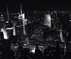 black and white, ny, and the city image