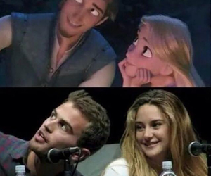 disney, tangled, and divergent image
