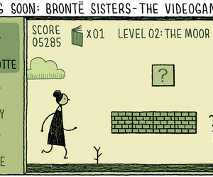 bronte, literature, and sisters image