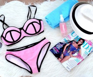 summer, bikini, and triangl image