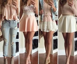 dress, fashion, and jeans image