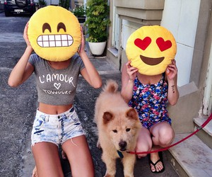 emoji, dog, and smile image