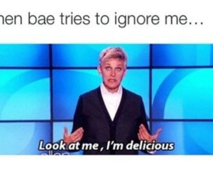 funny, ellen, and bae image