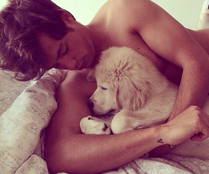 adorable, hot guy, and poodle image