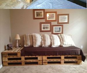 sofa, diy, and pallet image