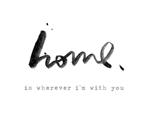 handwriting, home, and quote image