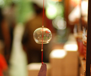 bell, bokeh, and wind bell image