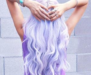 girl, beauty, and purple hair fashion image