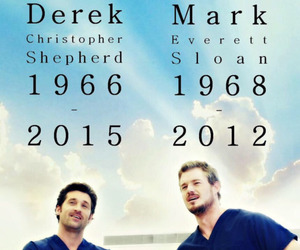 grey's anatomy, mark sloan, and derek shepherd image
