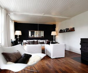 white and living room image