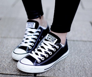 converse, white, and black image