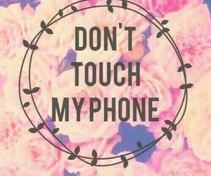 phone, wallpaper, and flowers image