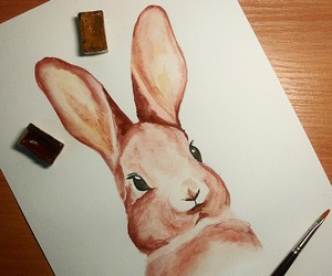 amazing, aquarelle, and bunny image