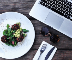 food, sunglasses, and healthy image