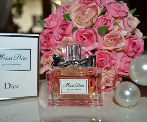 dior, rose, and beauty image