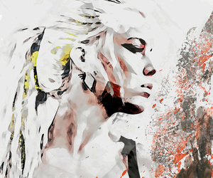 abstract art, portrait, and woman image
