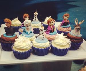frozen, cupcake, and disney image