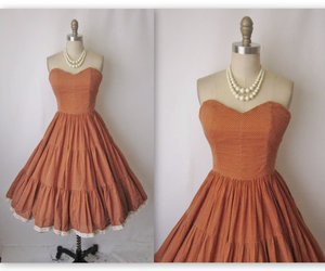 50s, dress, and pearls image