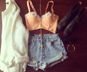 beauty, cardigan, and crop top image