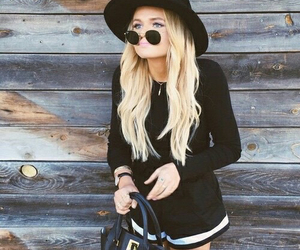 alli simpson, blonde, and outfit image