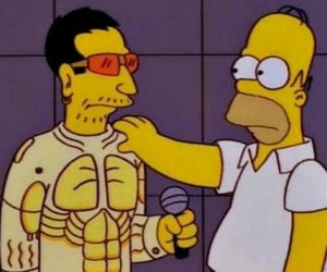 homer simpson, the simpsons, and bono vox image