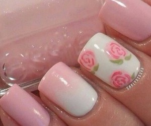 flower, flowers, and nails image