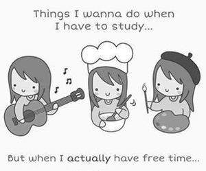 free time, true, and study image