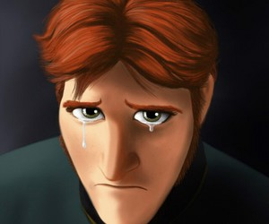 cry, hans, and frozen heart image