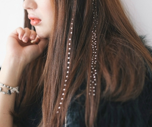 accessories, hair, and bling image