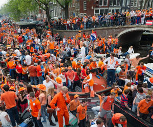 amsterdam, orange, and kingsday image