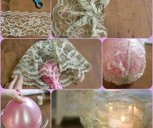 diy, candle, and lace image