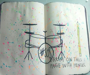 drums, mine, and pen image