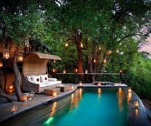 pool, home, and light image
