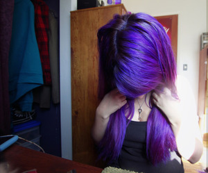 emo, hair, and cute image