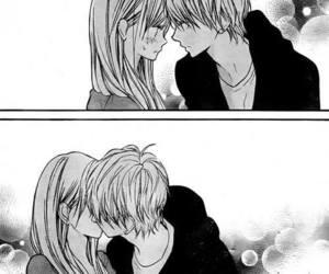 love, anime, and kiss image