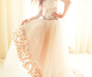 dress, flowers, and photography image