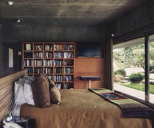 art, bed, and book image