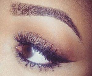 make up, eyebrows, and makeup image