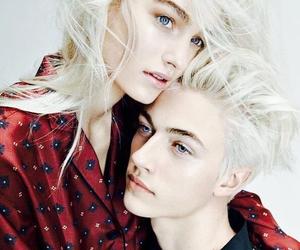 model, lucky blue smith, and maartje verhoef image