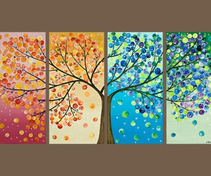 art, trees, and beauty image