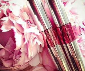 YSL, flowers, and lipstick image