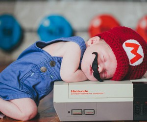 baby, cute, and nintendo image
