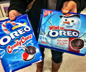 oreo, winter, and food image