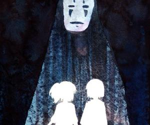 chihiro, haku, and spirited away image