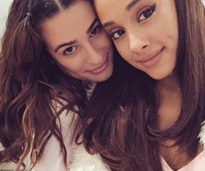 ariana grande, lea michele, and scream queens image