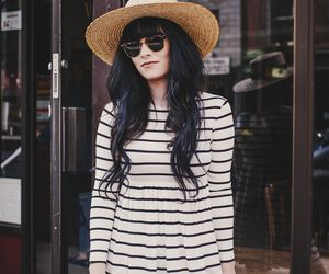black hair, chic, and clothing image