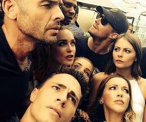 arrow, colton haynes, and stephen amell image