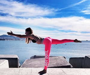 fitness, pink, and fit image