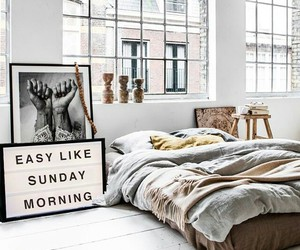 bed, Sunday, and decor image