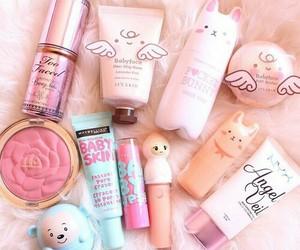makeup, pink, and kawaii image